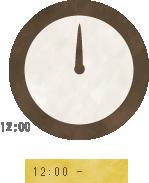 12時00分